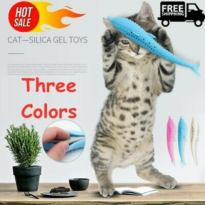 Pet Cat Toothbrush With Catnip Cat Silicone Molar Stick Cat Teeth Cleaning Toy~