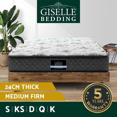 Giselle Bedding Mattress QUEEN DOUBLE KING SINGLE Medium Firm Spring Foam