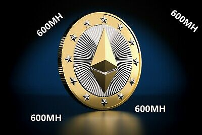 Ethereum ETH Mining Contract ETHash Crypto 600MH/s for 24 hours