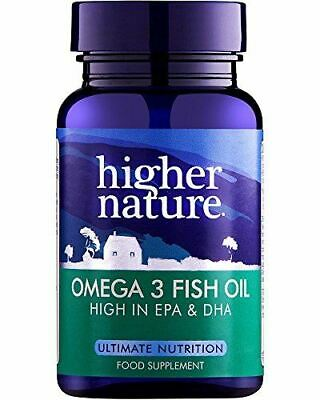 Higher Nature Fish Oil Omega 3  1000mg 90  Capsule