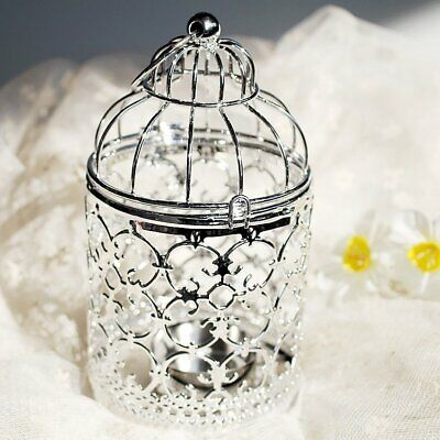 Bird Cage Design Metal Candle Holder Holiday Home Shop Bar Party Decoration GE
