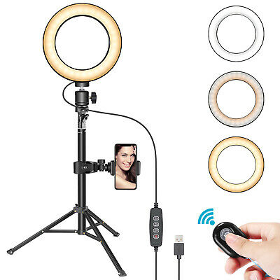 Neewer 6-inch LED Ring Light with Adjustable Stand for Makeup YouTube Video