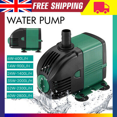 Water Pump Feature Tank Fountain Outdoor Garden Fish Pond Completely Submersible