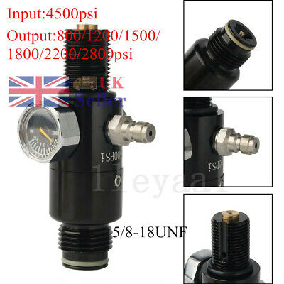 PCP Paintball 4500psi HPA Valve 5/8-18UNF Threaded Regulator Fit For Air Tank UK