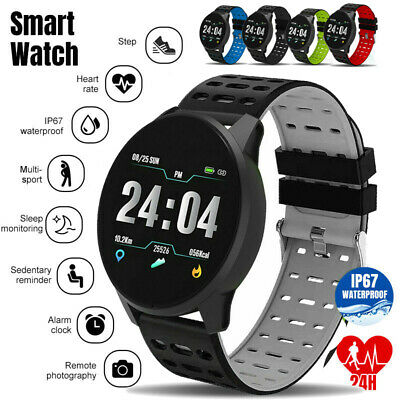 New Smart Watch Men Blood Pressure Heart Rate IP67 Waterproof Fitness Tracker