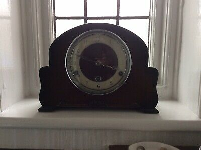 Vintage British Made Bentima 8 day westminster chiming mantel clock working