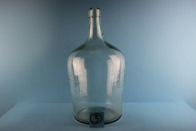 Alter Glasballon Weinballon  Transparent  Ca 5 Liter Nr 3