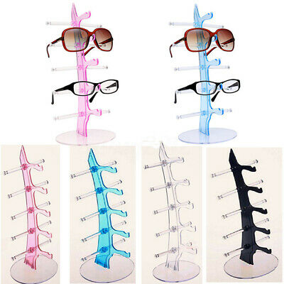 3-6 Tiers Sunglasses Glasses Rack Retail Display Stand Shown Holder Black//White