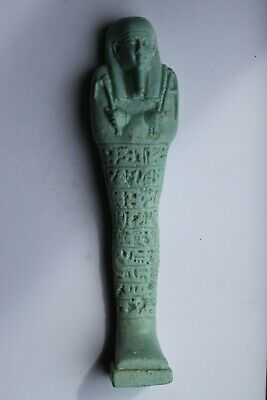 ANCIENT EGYPTIAN USHABTI 26th DYNASTY c. 7th century BC  PANEL of HIEROGLYPHICS
