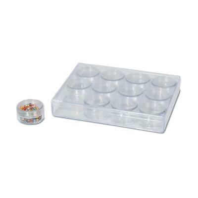 Bead Organizer with 12 Round Containers | 26 Pieces
