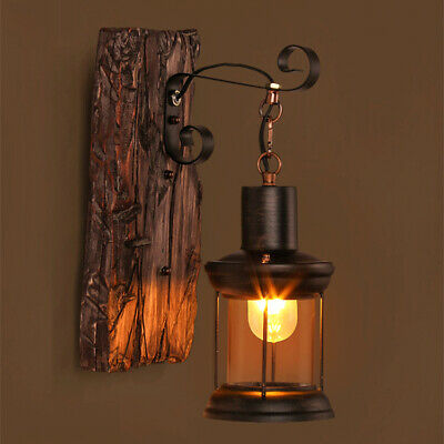 Vintage Antique Sconce Light Industrial Wood Sconce Retro Wall Lamp Lights