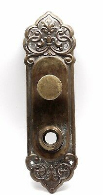 Victorian Brass Ornate Back Plate with Turn Knob