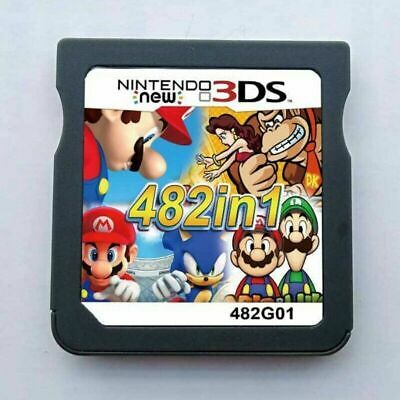 482 in 1 Game Games Cartridge Multicart For Nintendo DS NDS NDSL NDSi 2DS 3DS US