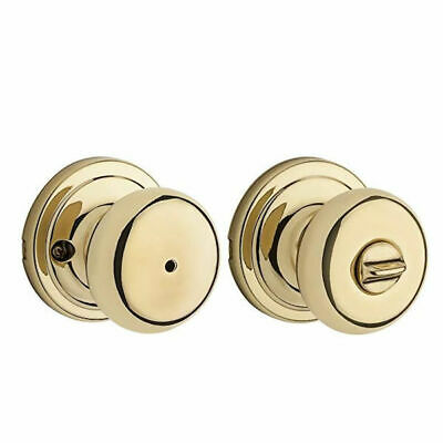 Kwikset 97300-861 Hancock Privacy Bed/Bath Knob in Polished Brass