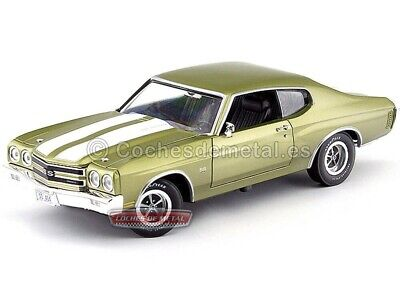 1970 Chevrolet Chevelle Coupe SS 454 Verde 1:18 Auto World AMM1028