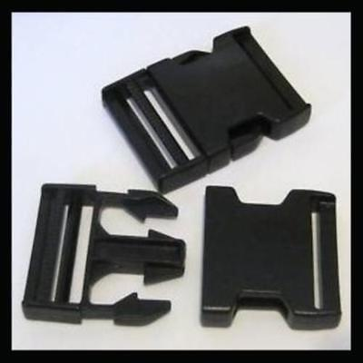 2X 20Mm Delrin Clips Luggage Strap Belt Plastic Snap Click Buckle Fastener Clasp