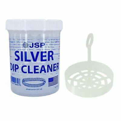 Sterling Silver Dip Cleaner Tarnish Remover 925 Jewelry Cleaning Solution 8oz
