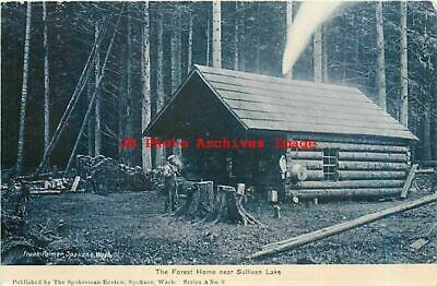 WA, Sullivan Lake, Washington, Log Cabin Home, Spokesman-Review No 8