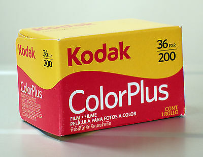 Kodak Color plus 200 36 Pictures 10 Films Mhd / Expiry Date 02/2021