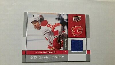 Lanny McDonald 2009-10 Upper Deck Series 2 Game Jersey Card Calgary Flames