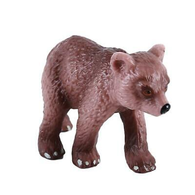 Realistic Brown Bear Wild Zoo Animal Model Figurine Kids Toy Collectibles W