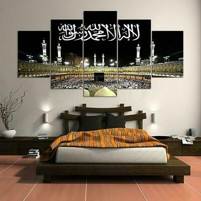 Muslim Arabic Art Poster Prints Wall Hanging Painting Islamic Mecca el Kaaba