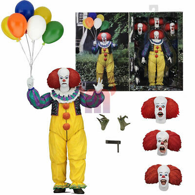 """NECA IT Pennywise Clown 1990 Ultimate 7"""" Action Figure 1:12 Movie Doll 2018 New"""