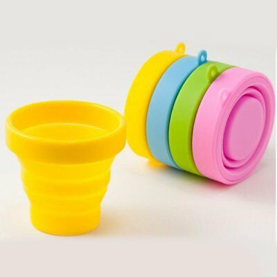 Portable Silicone Drinking Cup Collapsible Folding Cup Outdoor Travel Use GL