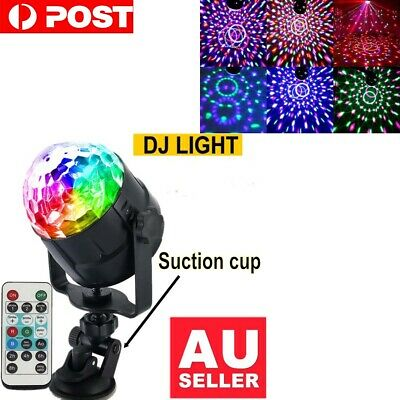 LED RGB USB Disco Ball DJ Party Light Effect Strobe Remote Auto Sound Activated