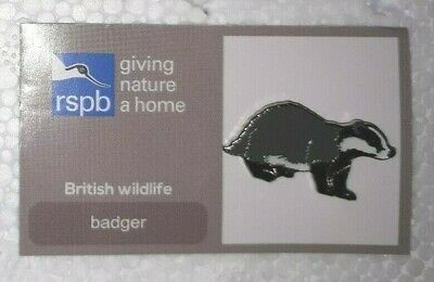RSPB GNAH BADGER #2 charity pin badge WILL COMBINE P+P