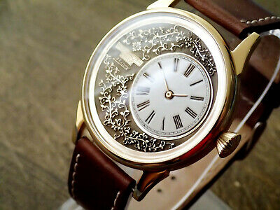 Unique handсraft watch with Patek Philippe movement