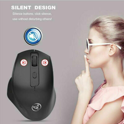2.4G Noiseless Wireless Vertical Mouse Rechargeable 6 Buttons 2400 DPI Mice Gift