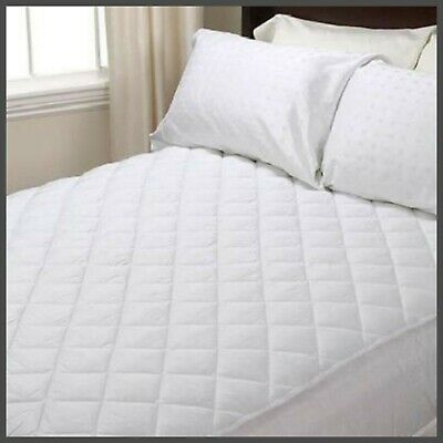 Double Extra Deep Quilted Mattress Bed Protector 30cm Topper Fitted Bed Cover