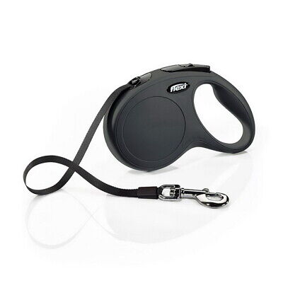 Flexi Classic Retractable Dog Leash Handle Large 16 ft Tape up to 110 lb Black
