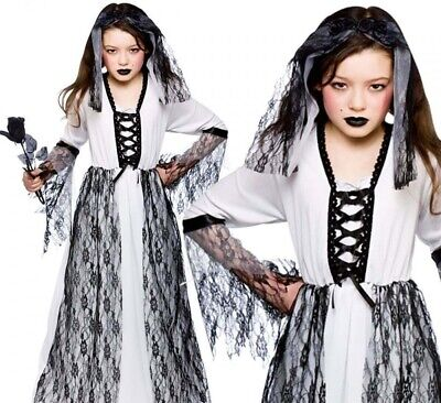 HALLOWEEN Bride Of Dracula Corpse Ghost Princess Witch Dress Fancy Costume 9-10