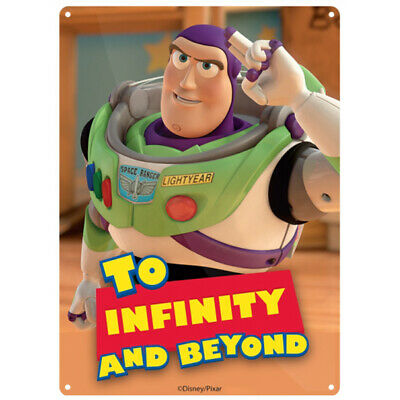 Disney Toy Story Buzz Lightyear To Infinity and Beyond Small Tin Sign - SSA5DF07