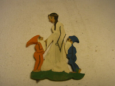 Vintage German Hand Painted Fretwork Snow White  #X