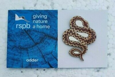 RSPB ADDER charity pin badge GNAH BRAND NEW DESIGN CARD