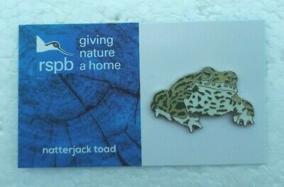 RSPB NATTERJACK TOAD charity pin badge COMBINES P+P GNAH BRAND NEW DESIGN CARD