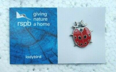 RSPB LADYBIRD charity pin badge GNAH BRAND NEW DESIGN CARD