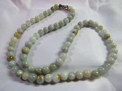 """Rare Natural A-Grade Untreated Round JADE Beads Necklace 5-5.5mm 18"""" 5.5-6mm 17"""""""