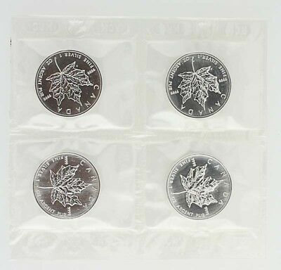 1999 Canada Silver Maple Leaf Coin - 1 OZ 9999 Fine silver Lot 4 Elizabeth II