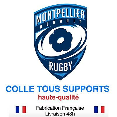 Stickers autocollant MONTPELLIER RUGBY, plusieurs tailles, super prix