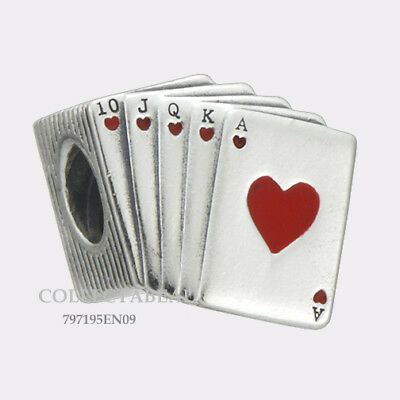 Authentic Pandora Silver Playing Cards Enamel Bead 797195EN09 NEW SUMMER 2018!