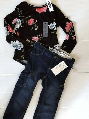 Toddler Girls SZ 4T NWT Old Navy Floral Tunic Long Slv & Cargo Ballerina Jegging