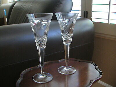 2~Waterford Millennium Peace Wedding Flutes~Acid Stamped-Ship January 1, 2000