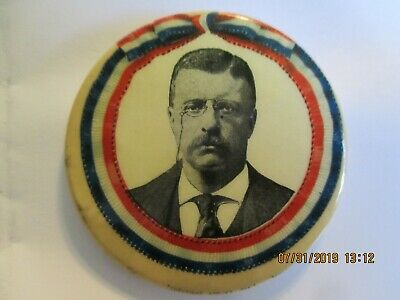 """1904 President Theodore Roosevelt Campaign Pinback Button 1.25"""" ROO-3196"""