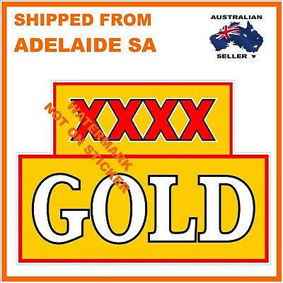 Xxxx Gold Beer  Decal Sticker Label Large Dia 240 Mm Hot Rod Fridge  Tool Box