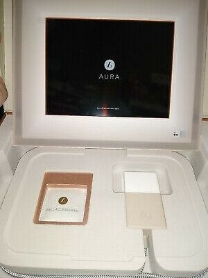 AURA Digital Picture Photo Frame 11.8 X 10 ROSE GOLD IVORY HD Screen Size 8 X 6