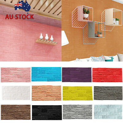 3D Vintage Natural Realistic Brick Stone Textured Non-Woven Wallpaper Roll